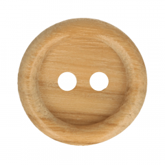 Holzknopf mit Rand - 50Stk