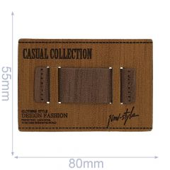 Kunstleder Label Casual Collection 80x55mm - 5Stk