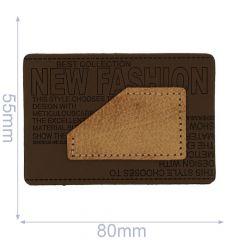 Kunstleder Label New Fashion 80x55mm - 5Stk