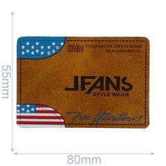 Kunstleder Label Jeans Style Wear 80x55mm - 5Stk - 01