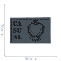 Kunstleder Label Casual 55x35mm - 5Stk - 01