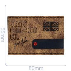 Kunstleder Label Jeans Collection 80x55mm - 5Stk
