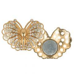 Magnetische Zierschnalle Schmetterling 45mm - 3Stk