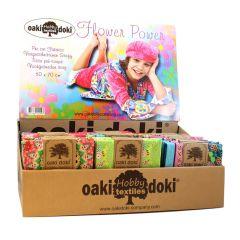Oaki Doki Quiltstoffe Flower Power 75x50cm - 54Stk.