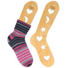 Holz-Sockenspanner Paar Größe S-L braun - 2Stk