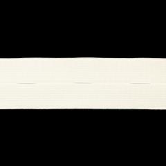 Knopflochelastik 25-30mm weiß - 50m