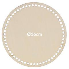 Flechtboden rund perforiert 16-28cm - 5Stk