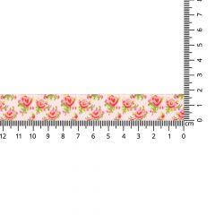 Gewebtes Band Rosen 17mm - 24m