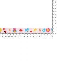 Gewebtes Band Tiere-Blumen 17mm - 25m