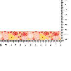 Gewebtes Band Blumen 17mm - 24m