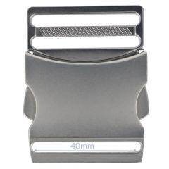 Steckschnalle Metall 40mm - 5Stk
