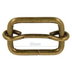 Schieber Metall 25mm - 10Stk