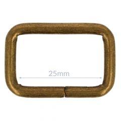 Vierkantring Metall 25mm - 10Stk