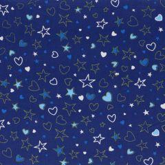 Tissu de Marie Stoff Sternen-Herzen Baumwolle - 10m