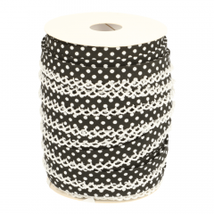 Schrägband gepunktet mit Spitzenrand - 25m