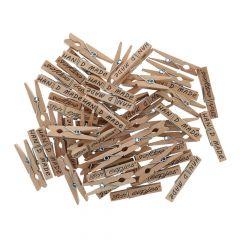 Scheepjes Wäscheklammern Holz 35-45mm - 50Stk
