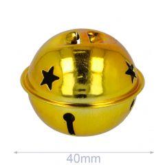Schellen mit Sterne 40-80mm gold - 5-20Stk