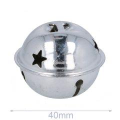 Schellen mit Sterne 40-80mm silber - 5-20Stk