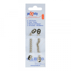 Pronty Metall Mantelaufhänger silber - 10 Stück