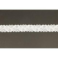 Nylon Spitzenband elastisch 34mm - 25m