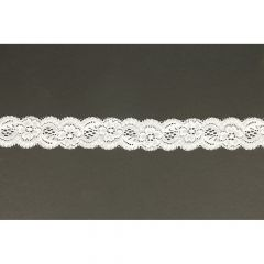 Nylon Spitzenband elastisch 35mm - 25m