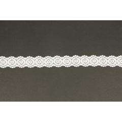 Nylon Spitzenband elastisch 25mm - 25m