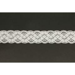 Nylon Spitzenband elastisch 50mm - 25m