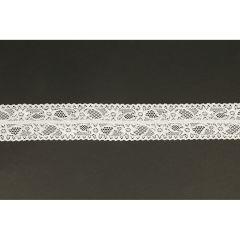Nylon Spitzenband elastisch 43mm - 25m