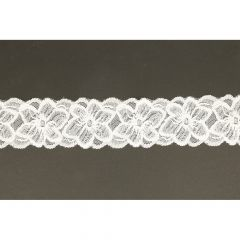 Nylon Spitzenband elastisch 60mm - 25m