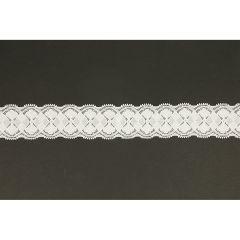 Nylon Spitzenband elastisch 40mm - 25m