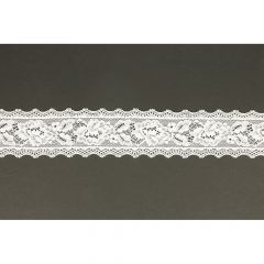 Nylon Spitzenband elastisch 52mm - 25m