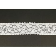 Nylon Spitzenband elastisch 58mm - 25m