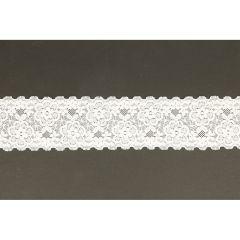 Nylon Spitzenband elastisch 65mm - 25m