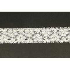 Nylon Spitzenband elastisch 62mm - 25m