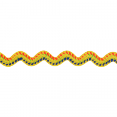 Zackenlitze mehrfarbig - 25m