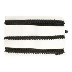 Satinband schräge Falten 10mm