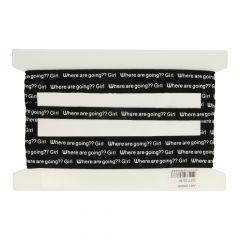 Band mit Buchstaben bedruckt 25 m