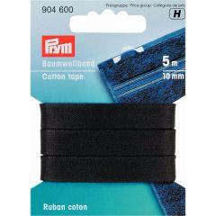 Prym Baumwollband 10mm schwarz - 5 Stück H
