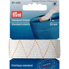 Prym Standard-Elastic 25mm scharz/weiß 1m - 1 Stück