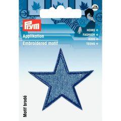 Prym Applikation Sterne jeans mittelblau - 3 Stück  G