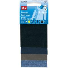 Prym Flickstoff Baumwolle aufbügelbar Sortim. 14x7cm - 5Stk