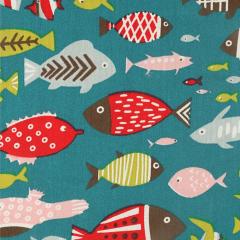 Tissu de Marie Stoff Fische 1.50m - 10m