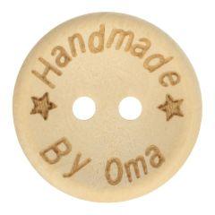 Holzknopf Handmade by Oma Größe 24-32 - 50Stk
