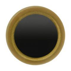 Tieraugen schwarz und durchsichtig gold 8-12mm - 50 Stück