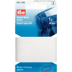 Prym Elastic-Band weich 40mm schwarz-weiß 1m - 1 Stück I