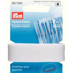 Prym Pyjama-Elastic 20mm weiß-schwarz 2m - 5 Stück N