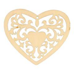 Holz Ornament Herz 7,8 cm - 10 Stück