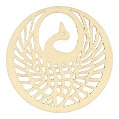 Holz Ornament Vogel 7,8 cm - 10 Stück