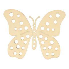 Holz Ornament Schmetterling 10,2 cm - 10 Stück