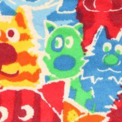 Tissu de Marie Stoff Flanell Hunden und Katzen 1.15m - 10m